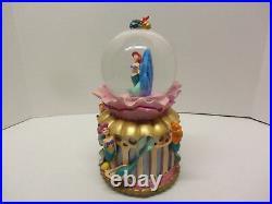 1998 Disney Store Snowglobe Little Mermaid Daughters Of Triton Nice