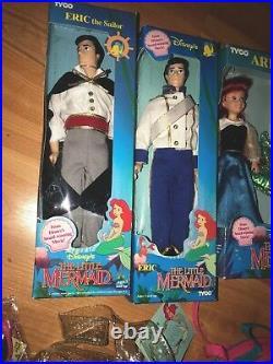 Ariel & Eric Doll Under the Sea Huge Set Tyco Vintage Early 90s Little Mermaid