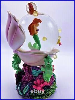 Ariel Little Mermaid Under The Sea Rare Musical Snow Globe