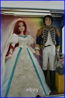 Ariel and Eric platinum set little mermaid disney limited edition doll new