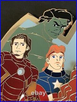 Avengers Fantasy Disney Pin LE70 Marvel Ariel Hulk Merida Little Mermaid Punzie