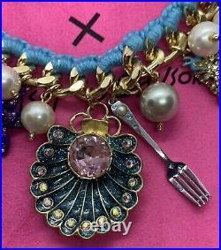 Betsey Johnson Disney The Little Mermaid Ariel Flounder Sebastain Charm Bracelet