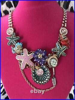 Betsey Johnson The Little Mermaid Sebastian Ariel Disney Collaboration Necklace