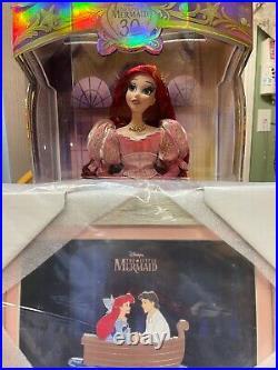 D23 Expo 2019 Disney 30th Little Mermaid Limited Edition Ariel Doll + Jumbo Pin