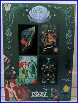 D23 Expo 2019 The Little Mermaid Acrylic Ariel Art Print Set of 4 LE 200