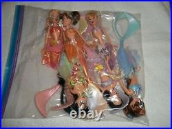 Disney 2007 The Little Mermaid Ariel's 6 Sisters Dolls 12 Unused No Boxes