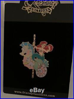 Disney Auctions Ariel Princess Carousel Horse Pin LE 100 Little Mermaid HTF Rare