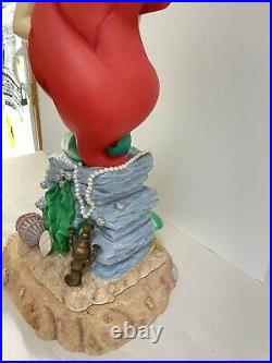 Disney Big Fig The Little Mermaid Ariel Statue Large 2 Piece See Pics as is