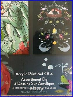 Disney D23 Expo 2019 The Little Mermaid Ariel Art Acrylic Print Set of 4 LE 200