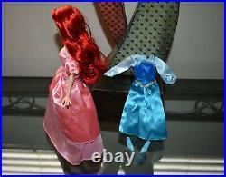 Disney Designer Limited Edition Little Mermaid Ariel Doll RARE Pink Blue Dress