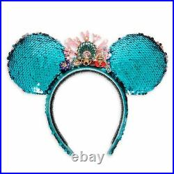 Disney Designer The Little Mermaid Reversible Sequin Ear Headband Betsey Johnson