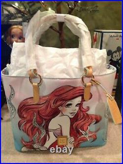 Disney Dooney Bourke Ariel Little Mermaid TOTE Bag Purse NWT