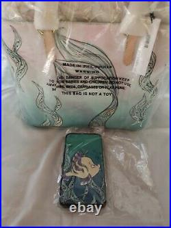 Disney Dooney Bourke Ariel (The Little Mermaid) Tote New NWT. (Bonus Wallet)