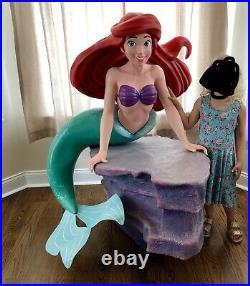 Disney Life Size Princess Ariel The Little Mermaid Statue Prop Figure Display