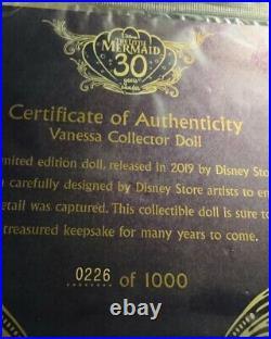 Disney Limited Edition Little Mermaid 17 Vanessa Doll D23 #226/1000 NIB RARE