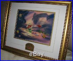Disney Little Mermaid 10th Anniversary Ariel Framed Pin Set