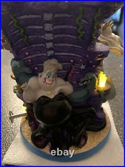 Disney Little Mermaid Ariel & Prince Eric Dancing Pedestal Snowglobe