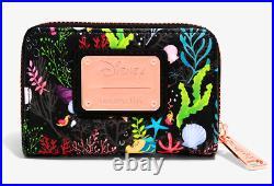 Disney Loungefly The Little Mermaid Ariel Flounder Sebastian Backpack Wallet Bag