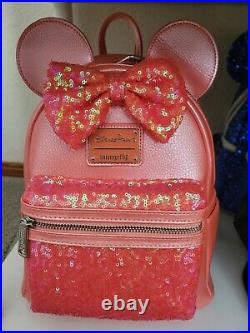 Disney Parks Loungefly Mini Backpack Sequined Little Mermaid Ariels Grotto Coral