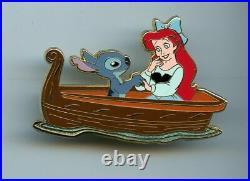 Disney Shopping Guest Star Stitch Princess Ariel Little Mermaid Boat LE 100 Pin