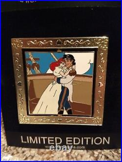 Disney Shopping Spinner Ariel Eric Little Mermaid 1 of 6 Wedding Pin LE 100