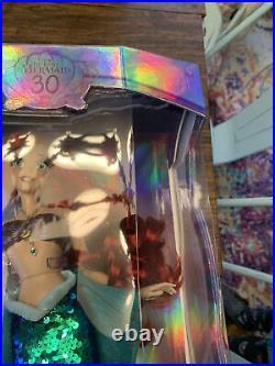 Disney Store 30th Anniversary 17 Little Mermaid Ariel Limited Edition Doll NEW