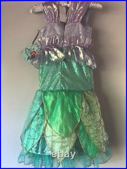 Disney Store Little Mermaid Ariel Size 4 LIMITED EDITION Deluxe Costume NEW NWT