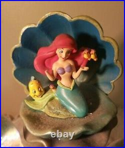 Disney Store The Little Mermaid Ariel And Sisters Snow Globe