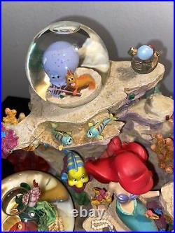 Disney Store The Little Mermaid Under The Sea Musical Snowglobe Read Description