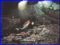 Disney The Little Mermaid Ariel John Ballaran Movie Art Print Poster Mondo Rare