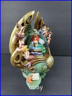 Disney The Little Mermaid Daughters of Triton Snowglobe Music Figurine RARE HTF