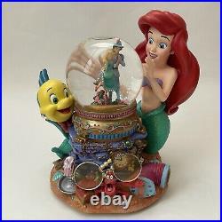 Disney Under The Sea Ariel Little Mermaid Snow Globe & Music Box AS IS READ DESC