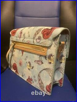 Disney parks ariel dooney and bourke little mermaid crossbody purse