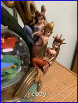 Disney's The Little Mermaid Daughters of Triton Snow Globe Very Rare and HTF