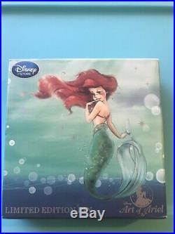 HTF Disney Store LE 300 NIB D23 Art of Ariel pin