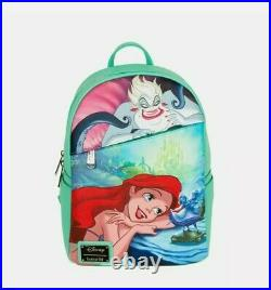 IN HAND Loungefly Little Mermaid Ariel Mini Backpack Pink a la Mode Exclusive