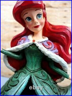 Jim Shore Disney Enesco Ariel Little Mermaid Christmas Tidings of Wonder RARE