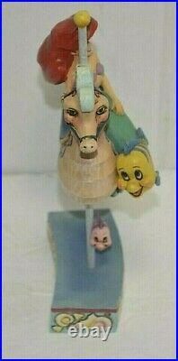 Jim Shore RARE Disney Princess of the Sea Ariel Little Mermaid Carousel 4011742