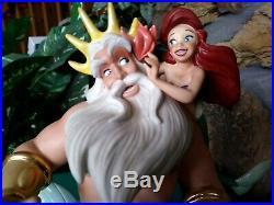 King Triton, Ariel Wdcc Disney Ltd. Ed. Figurine, Morning Daddy, From Little Mermaid