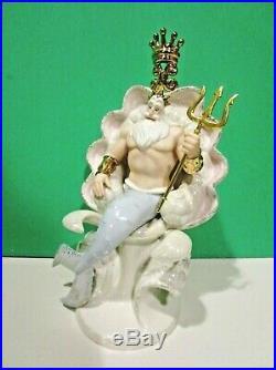 LENOX Disney KING TRITON sculpture NEW in BOX COA LITTLE MERMAID ARIEL'S Father