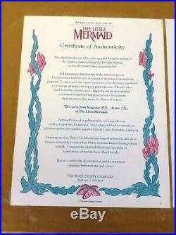 Little Mermaid (1989) Production pan cel setup Disney animation Ariel art movie