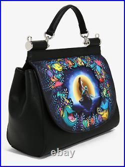 Loungefly Ariel The Little Mermaid Black Satchel Shoulder Bag Crossbody & Wallet