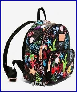 Loungefly Disney Ariel The Little Mermaid Mini Backpack Flounder Sebastian NEW