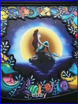 Loungefly Disney Little Mermaid Ariel Purse Satchel Crossbody Bag Handbag NEW