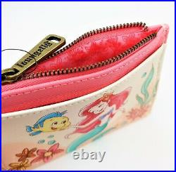 Loungefly Disney The Little Mermaid Ariel Floral Mini Backpack & Coin Cardholder