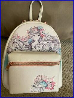 Loungefly Disney The Little Mermaid Ariel Shells Sketch Mini Backpack Bag