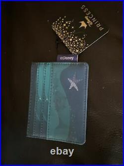Loungefly Little Mermaid Ariel Grotto Mini Backpack Cardholder Wallet Lanyard