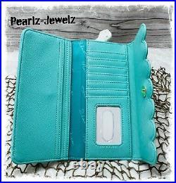 Loungefly Princess Little Mermaid Ariel Green Aqua Handbag Purse Tote & Wallet