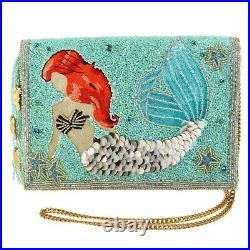 Mary Frances Little Mermaid Disney Ariel Beaded Crossbody Clutch