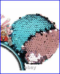 NWT Disney Designer Little Mermaid Reversible Sequin Ear Headband Betsey Johnson